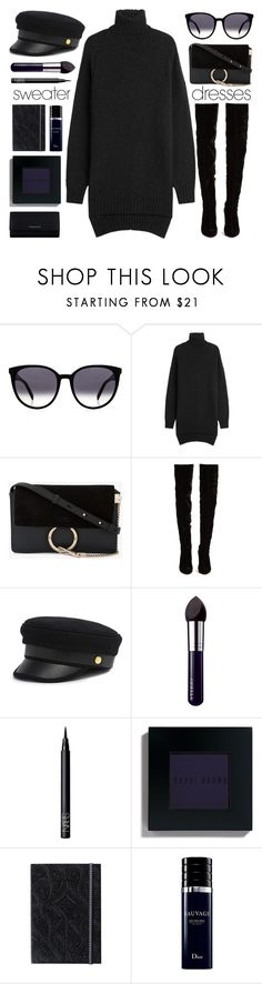 """""""All Black"""" by smartbuyglasses ❤ liked on Polyvore featuring Isabel Marant, Chloé, Christian Louboutin, Henri Bendel, By Terry, NARS Cosmetics, Bobbi Brown Cosmetics, Christian Dior, Givenchy and black"""