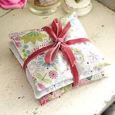 Make pretty scented sachets • Create scented sachets from oddments of fabric, to keep your drawers smelling sweet. Or tie a few bags together for a pretty gift.