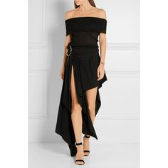 Anthony Vaccarello Layered stretch-jersey maxi skirt ($2,385) ❤ liked on Polyvore featuring skirts, stretch jersey, floor length skirt, double layer maxi skirt, anthony vaccarello and layered maxi skirt