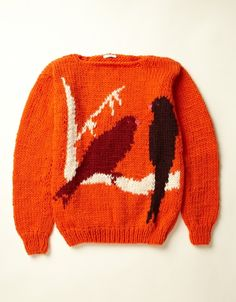 Bird Sweater (orange)  http://www.youmustcreate.com