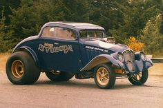 More vintage cars hot rods and kustoms Submit Your Pics Old Hot Rods, Old Race Cars, Vintage Race Car, Drag Cars, Car Humor, Drag Racing, Hot Cars, Custom Cars, Muscle Cars