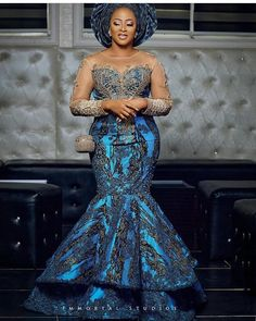 Nigerian Lace Styles, Aso Ebi Lace Styles, Lace Gown Styles, African Lace Styles, Ankara Dress Styles, African Fashion Ankara, Latest African Fashion Dresses, African Print Fashion, African Party Dresses