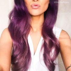 Purple to lilac ombré hair #hairstyles #hairinspo #waves