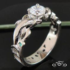 design your own unique custom engagement ring and unusual wedding bands in gold and platinum - Dolphin Wedding Rings