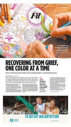 Recovering From Grief, One Color at a Time|Epoch Times #Health #Healing #newspaper #editorialdesign