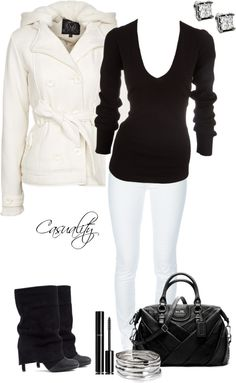 """Black & White"" by casuality on Polyvore"