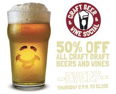 NEW GiVEAWAY plus 50% off Craft Draft Beers & Wines THURSDAY's 2pm to close at Bagger Dave's - GIVEAWAY ENDS 4/3/2015 http://ow.ly/KIjrr
