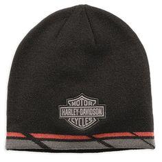 2e1665e9aa211 Harley-Davidson Men s Dual Stripe Knit Hat Striped Knit