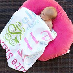 Baby Girls Name Blanket