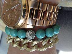 Cora  Bridal Jade & Teal Pearl Bracelet Bridesmaids by AlishaBaird, #armcandy #statementjewelry #trends #jewelry #bracelets