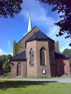 Moss church, a Gothic church from 1861, Norway