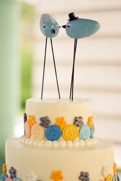 Rustic Lovebird Wedding Cake Topper with by CountrySquirrelsRUS