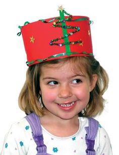 Christmas Tree Hat Christmas craft