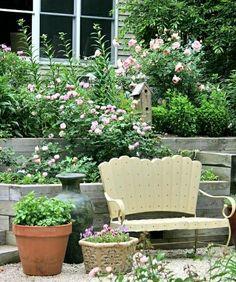 Gartenbank Garten Terrassen Gestaltung Stufen