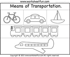 means of transportation air land and water kindergarten and preschool printable. Black Bedroom Furniture Sets. Home Design Ideas