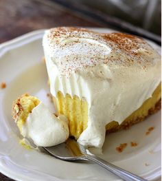 Need to use up egg nog from the holidays? No bake egg nog pie.