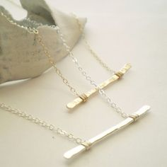 The Everyday Necklace - Hammered Sterling Silver with Delicate Sterling Silver Chain