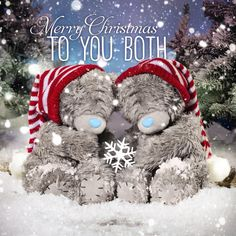 3D Holographic To You Both Me to You Bear Christmas Card £2.99