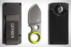Gerber Blade Money Clip: carry several cards plus a useful little blade, in a compact and good looking little package. Coordinates with the rest of their EDC line.