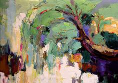 Autor:  Valery Khattin Técnica:  Oil,canvas 70x100 cm Título:  ива / Willow