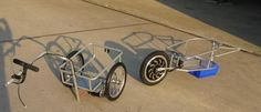 Electric powered bike trailers that actually provide you a push. Great idea!