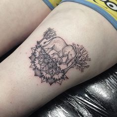 Elephant Half Mandala by Medusa Lou Tattoo Artist - medusaloux@outlook.com