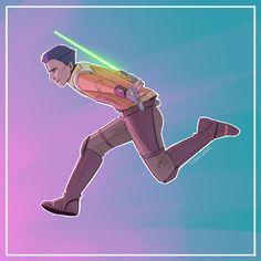 Flying Casual Kimberly Lee, Ezra Bridger, Original Trilogy, Star Wars Rebels, Over The Rainbow, Lightsaber, Star Wars Art, Clone Wars, Best Shows Ever