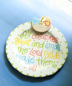 Coton Colors | Noah's Ark plate