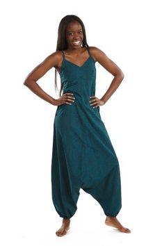 Jumpsuit Sky - Snygg petrol -blå jumpsuit. Avslappnad modell som kombinerar enkel elegans och frihet! We love!