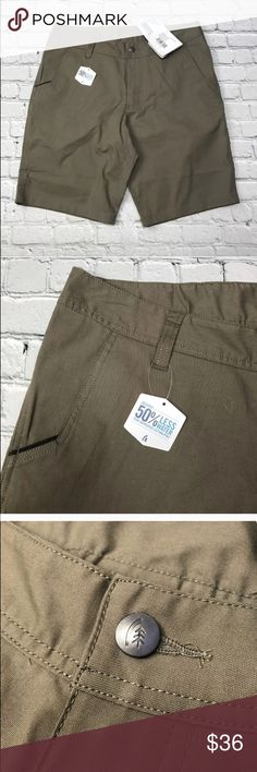 """Dri-Canvas Shorts New Sierra Designs Mens Shorts NWT Dri Canvas Water Resistant Wicking Stone Brown 34. Gusseted crotch.   Size:34 waist  Measurements ~  Waist across: 17""""  Length: 21.5""""  Inseam: 11""""   Condition:New with tags attached. Sierra Designs Shorts"""