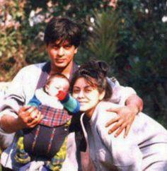 #Bollywood #Flashback - SRK with his wife Gauri and son Aryan.