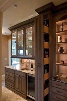 hidden liquor cabinet Kitchen Traditional with award winning bar beverage