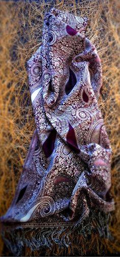 PAISLEY PASHMINA Scarf Shrug Wrap Wrapped Gift by LePetitMonkey