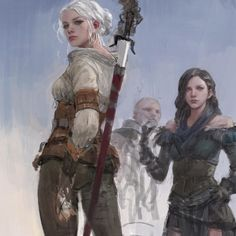 Geralt And Ciri, Ciri Witcher, Witcher Art, The Witcher Wild Hunt, The Witcher 3, Avatar Disney, Elves Fantasy, Female Knight, Beautiful Fantasy Art