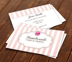 Cupcake Bakery Pink Cute Elegant Modern Business Card Template This great business card design is available for customization. All text style, colors, sizes can be modified to fit your needs. Just click the image to learn more! | bizcardstudio.co.uk