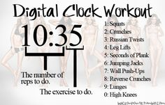 For when I sit in my room with nothing to do I can just look at my clock and have a workout!