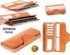 Borgasets-Womens-Genuine-Leather-Large-Wallet-Trifold-Zipper-Smartphone-Purse