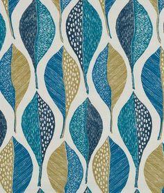 Per Yd A Maria Kalinowsky Print Lined Geometric Aqua /& Navy Blue Cotton Fabric