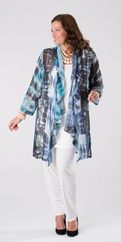 Kasbah grey/violet voile waterfall jacket
