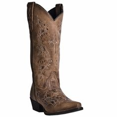Laredo Cross Point Cowgirl Boots - Snip Toe, Brown, hi-res Cowboy Boot Store, Laredo Boots, Womens Cowgirl Boots, Women's Western Boots, Country Boots, Ladies Boots, Western Cowboy, Western Style, Boot City