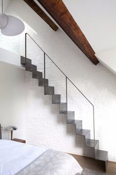 Basement stairs - There is no shortage of stairway design ideas to make your stairway a charming part of your home. From grand staircases and Loft Stairs, House Stairs, Basement Stairs, Basement Ideas, A As Architecture, Casa Loft, Flooring For Stairs, Floating Staircase, Open Staircase