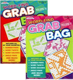 Kappa Word Find Grab Bag Puzzle Book Case Pack 48