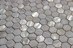 """""""Whistling Oyster"""" Mother Of Pearl White Shell Mosaic Backsplash Tile - contemporary - Mosaic Tile - Mosaic & Tile Source Inc."""