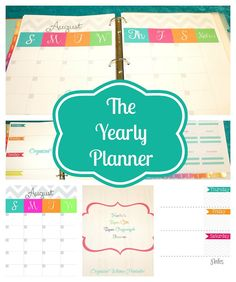 DIY Mom Planner- PDF Printables-Home Management Printable Planner and Organizer- Yearly, Monthly, and Weekly Calendar