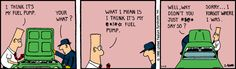 Contingency Theory at Work -The Dilbert Strip for January 13, 1990