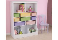 Wall Storage Unit - White - CLUTTER FREE KIDS