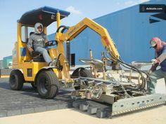 Probst's Paver laying machine wotks at Gulf Logistics in Qatar.