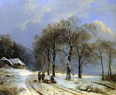 WINTER LANDSCAPE, by Barend Cornelis Koekkeok