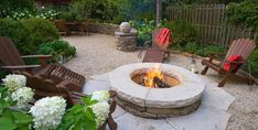 Fire Pit, Garden Entertaining  Mariani Landscape  Lake Bluff, IL