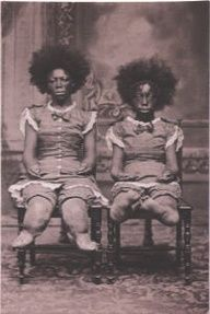 Alice Bounder & her mother were born in Calcutta, India. They were exhibited together as Mama Bear and the Bear Cub. She began her sideshow career at Dreamland in 1880.